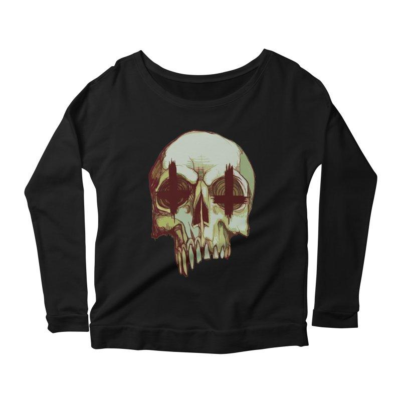 skull vi (evil) Women's Scoop Neck Longsleeve T-Shirt by saintdevil's Artist Shop