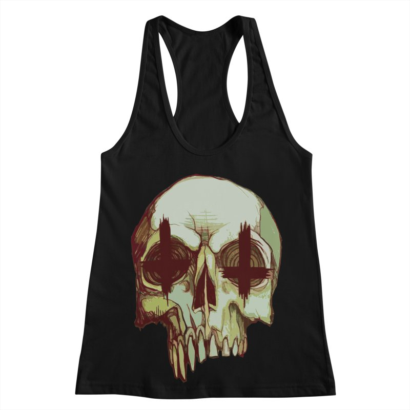 skull vi (evil) Women's Racerback Tank by saintdevil's Artist Shop