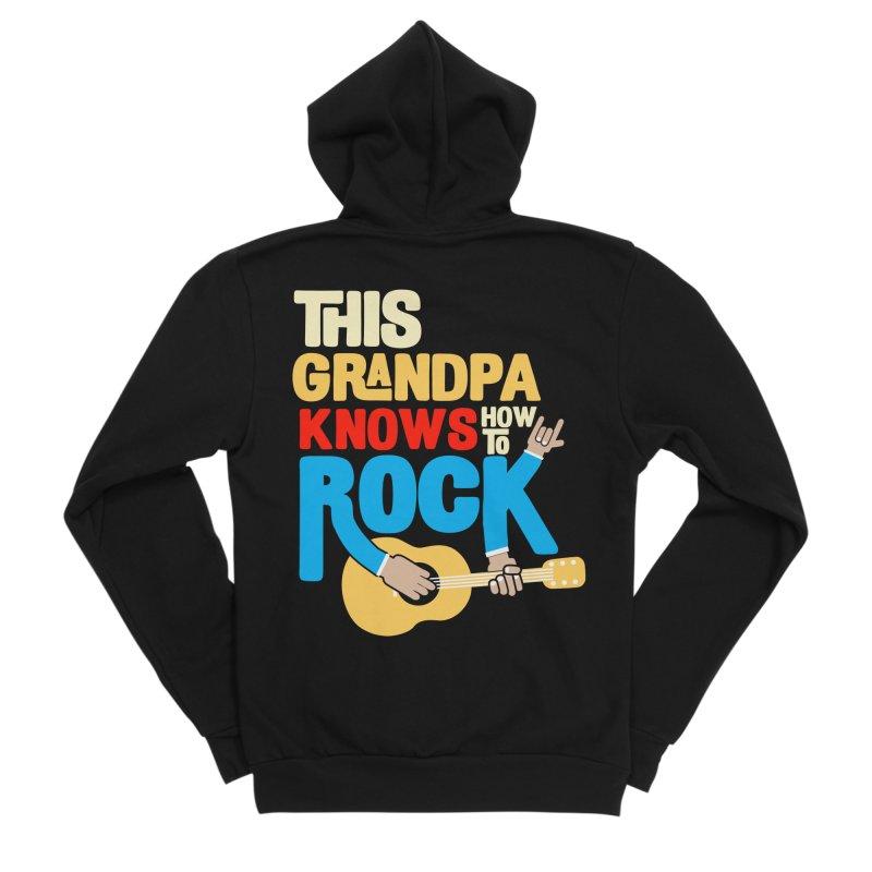 This grandpa know how to rock Men's Sponge Fleece Zip-Up Hoody by Saksham Artist Shop
