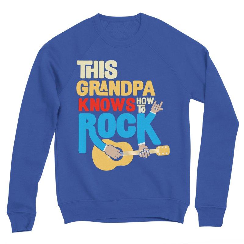 This grandpa know how to rock Men's Sponge Fleece Sweatshirt by Saksham Artist Shop