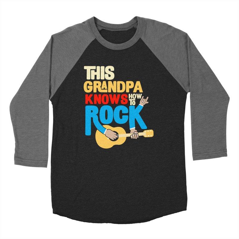 This grandpa know how to rock Women's Baseball Triblend Longsleeve T-Shirt by Saksham Artist Shop