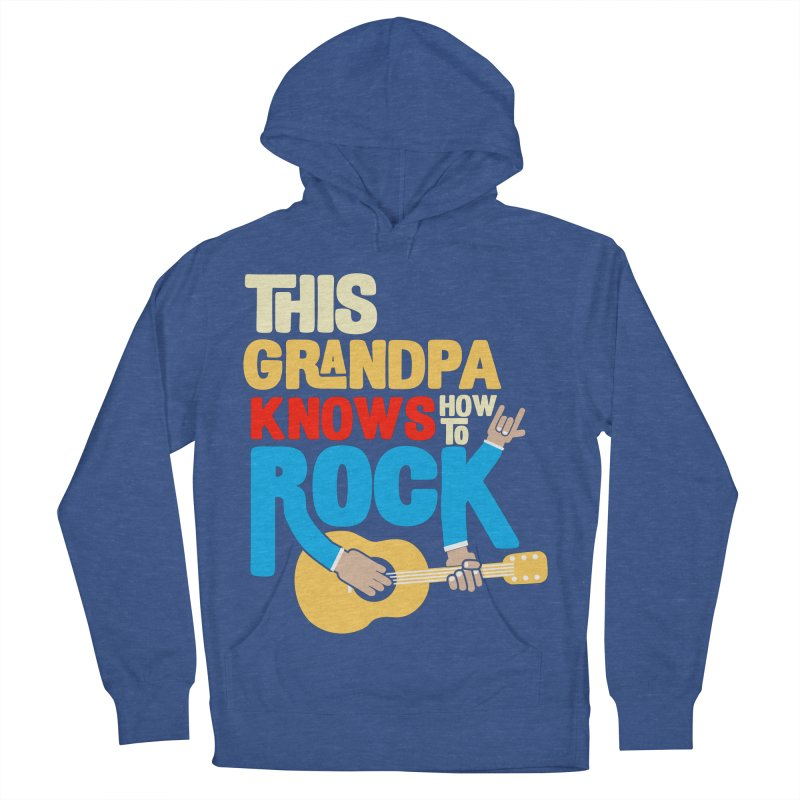 This grandpa know how to rock Men's French Terry Pullover Hoody by Saksham Artist Shop