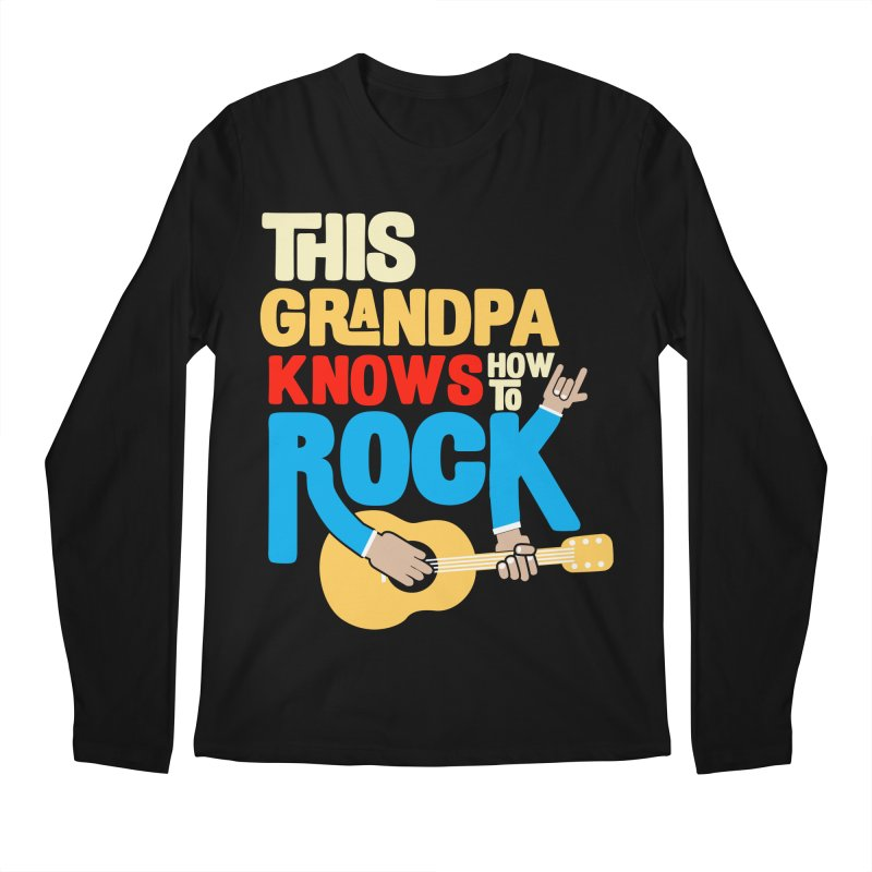 This grandpa know how to rock Men's Regular Longsleeve T-Shirt by Saksham Artist Shop