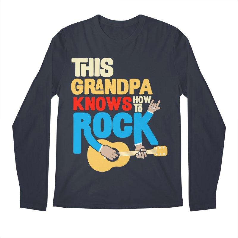 This grandpa know how to rock Men's Regular Longsleeve T-Shirt by Saksham Artist Shop