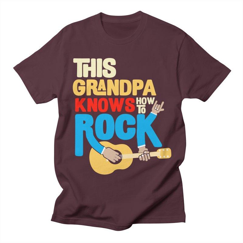 This grandpa know how to rock Women's Regular Unisex T-Shirt by Saksham Artist Shop