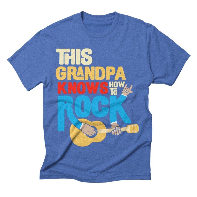 This grandpa know how to rock Men's Triblend T-Shirt by Saksham Artist Shop