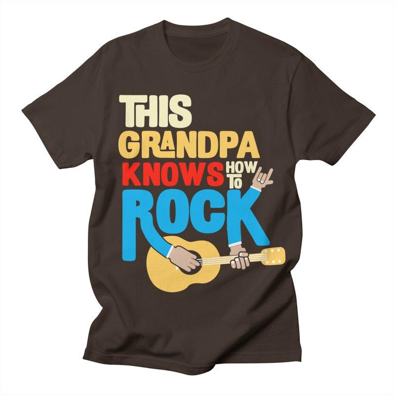 This grandpa know how to rock Men's Regular T-Shirt by Saksham Artist Shop
