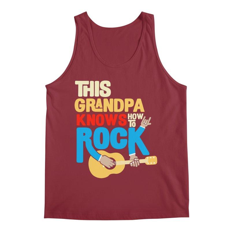 This grandpa know how to rock Men's Regular Tank by Saksham Artist Shop
