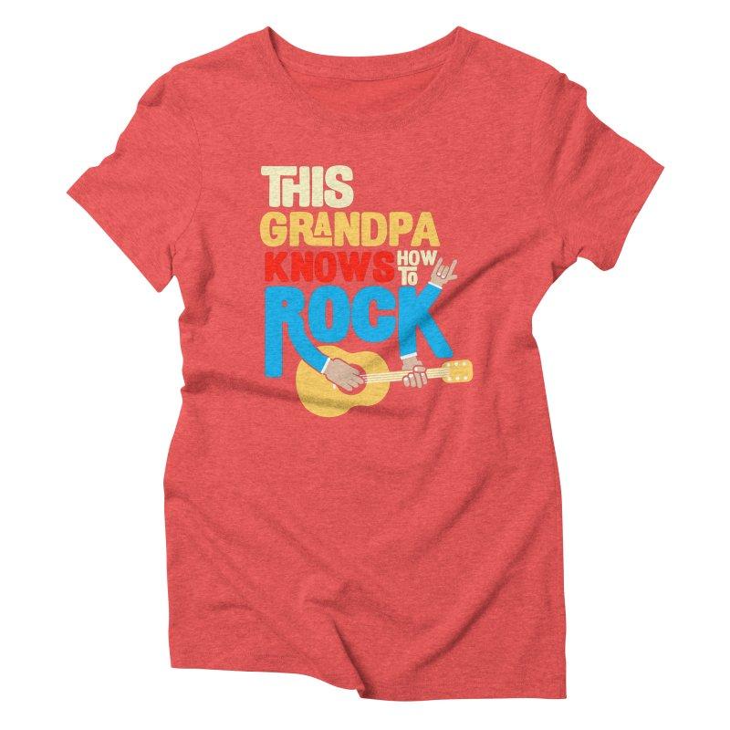 This grandpa know how to rock Women's Triblend T-Shirt by Saksham Artist Shop