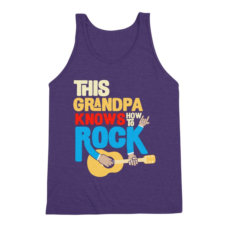 This grandpa know how to rock Men's Triblend Tank by Saksham Artist Shop