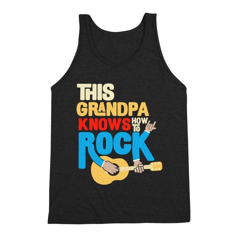 This grandpa know how to rock Men's Triblend Tank by Saksham Artist Shop