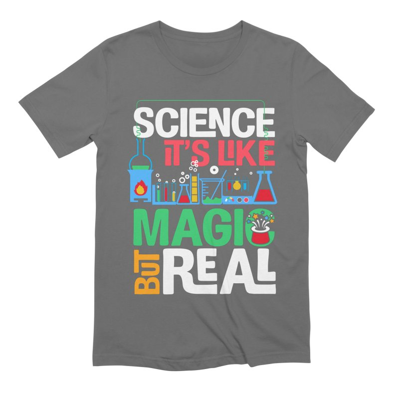 Science its like magic Men's Extra Soft T-Shirt by Saksham Artist Shop