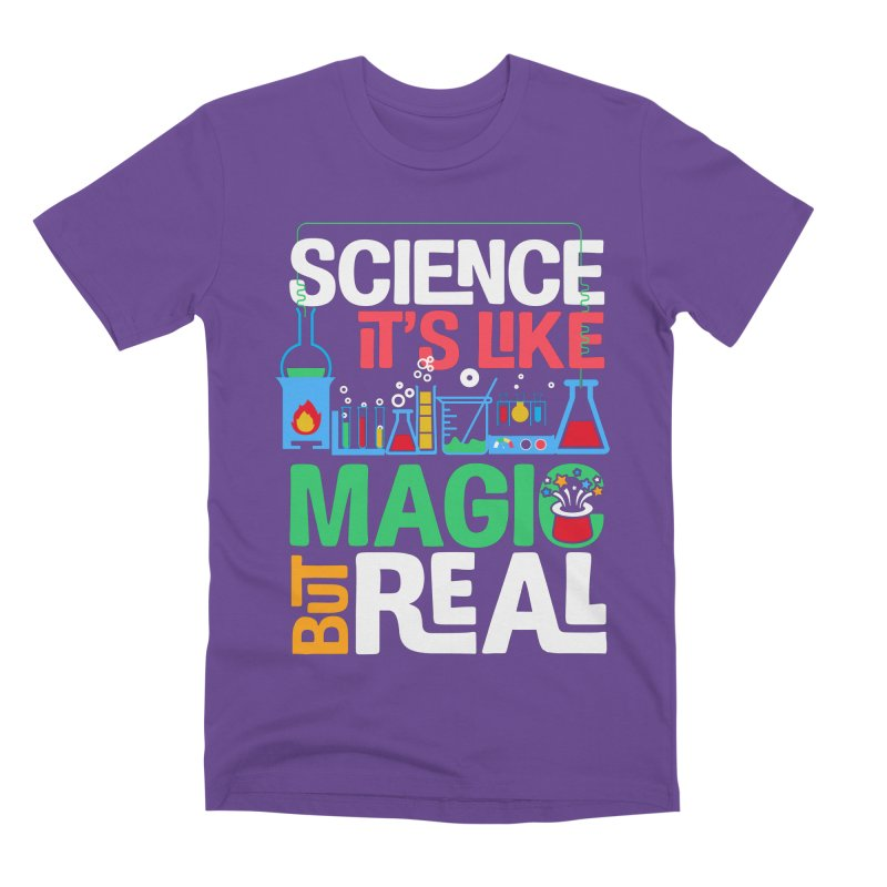 Science its like magic Men's Premium T-Shirt by Saksham Artist Shop