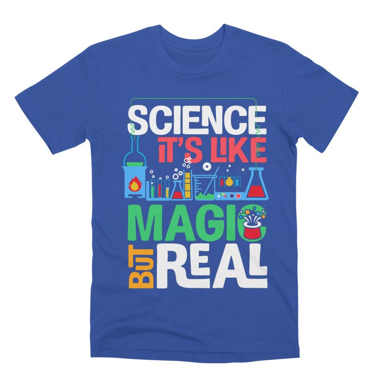 Science its like magic Men's Premium T-Shirt by Saksham Artist Shop