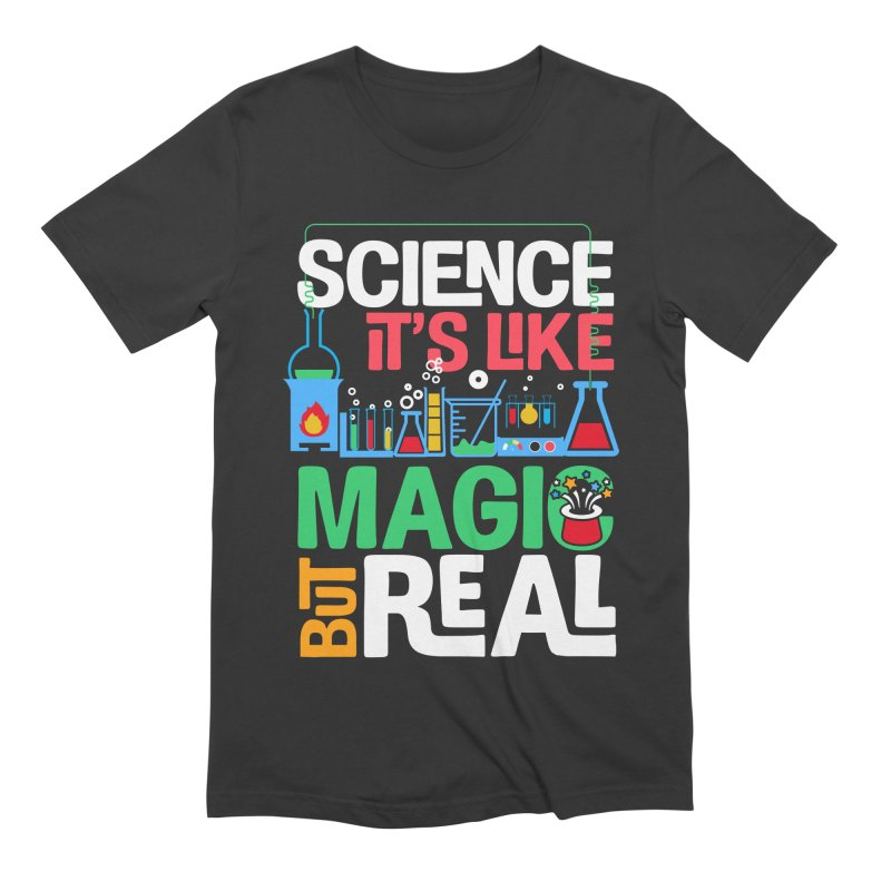 Science its like magic Men's Extra Soft T-Shirt by Saksham Artist Shop