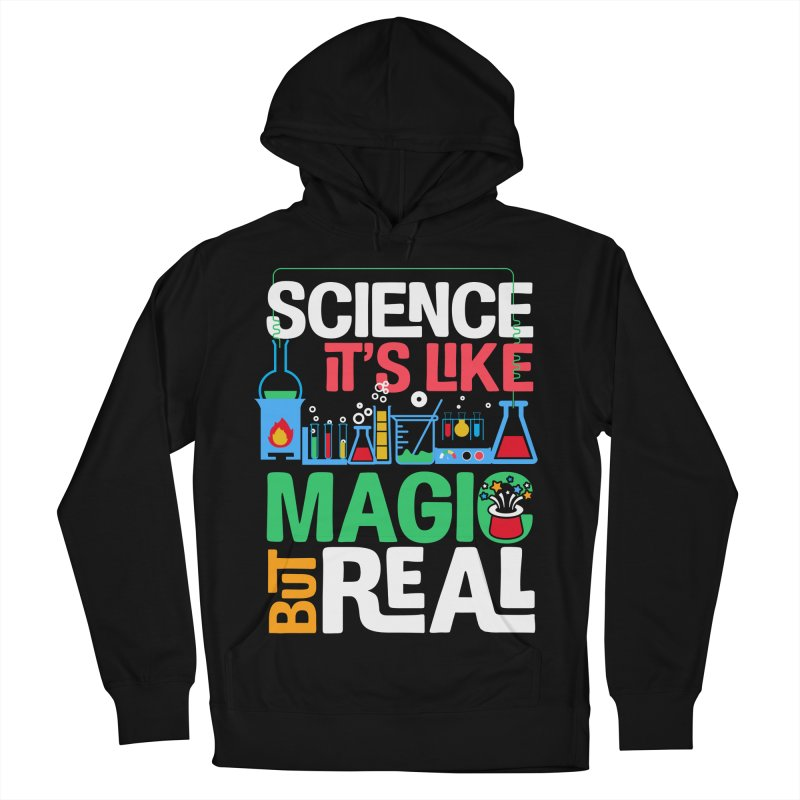 Science its like magic Men's French Terry Pullover Hoody by Saksham Artist Shop