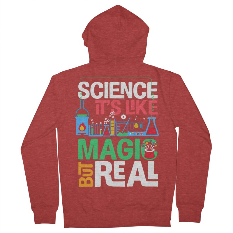 Science its like magic Men's French Terry Zip-Up Hoody by Saksham Artist Shop
