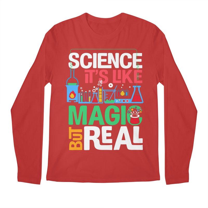 Science its like magic Men's Regular Longsleeve T-Shirt by Saksham Artist Shop