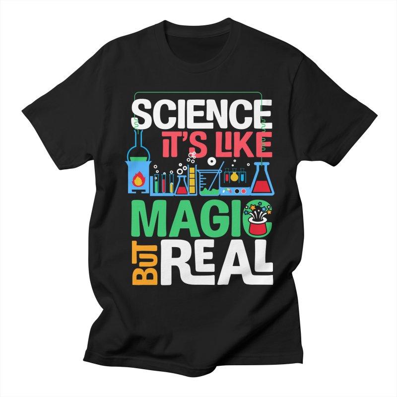 Science its like magic Women's Regular Unisex T-Shirt by Saksham Artist Shop