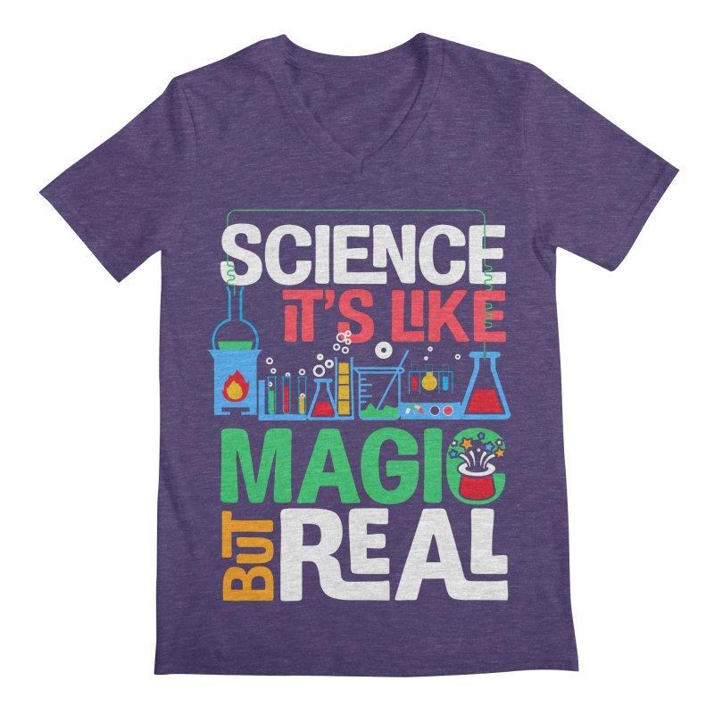 Science its like magic Men's Regular V-Neck by Saksham Artist Shop