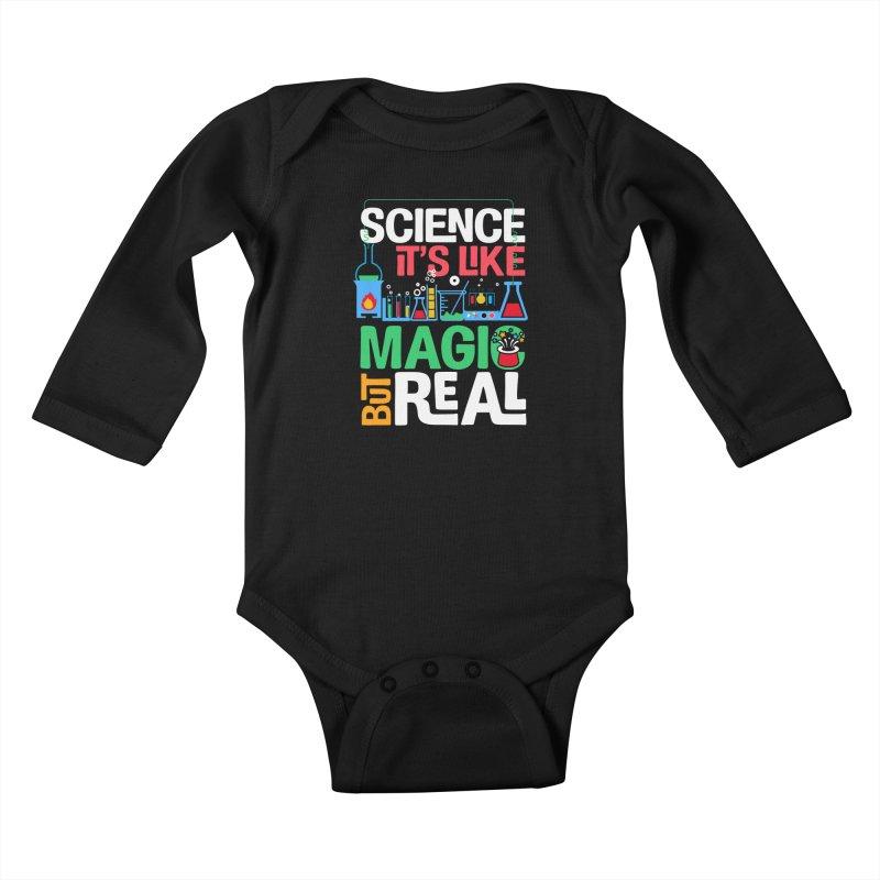 Science its like magic Kids Baby Longsleeve Bodysuit by Saksham Artist Shop