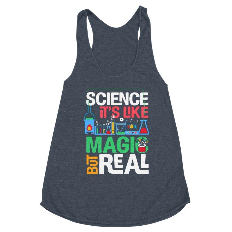 Science its like magic Women's Racerback Triblend Tank by Saksham Artist Shop