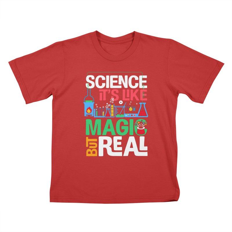 Science its like magic Kids T-Shirt by Saksham Artist Shop