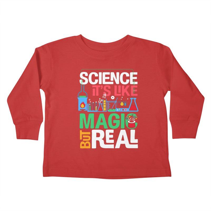 Science its like magic Kids Toddler Longsleeve T-Shirt by Saksham Artist Shop