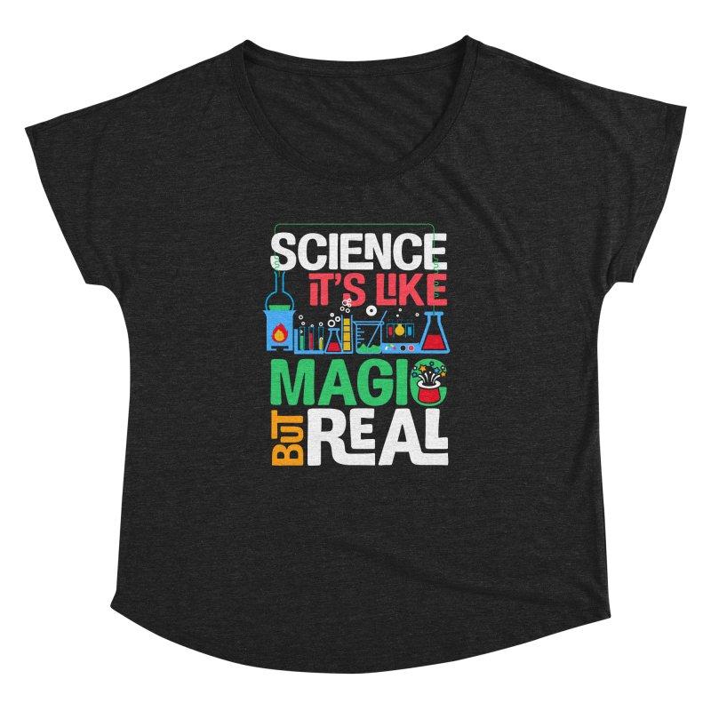 Science its like magic Women's Dolman Scoop Neck by Saksham Artist Shop