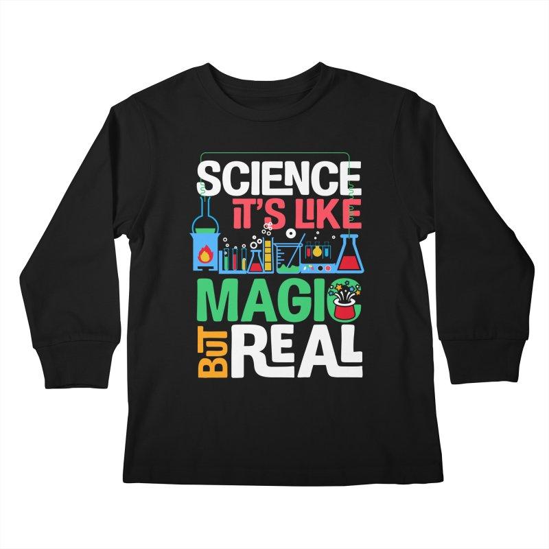 Science its like magic Kids Longsleeve T-Shirt by Saksham Artist Shop
