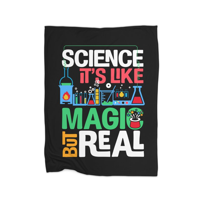 Science its like magic Home Fleece Blanket Blanket by Saksham Artist Shop