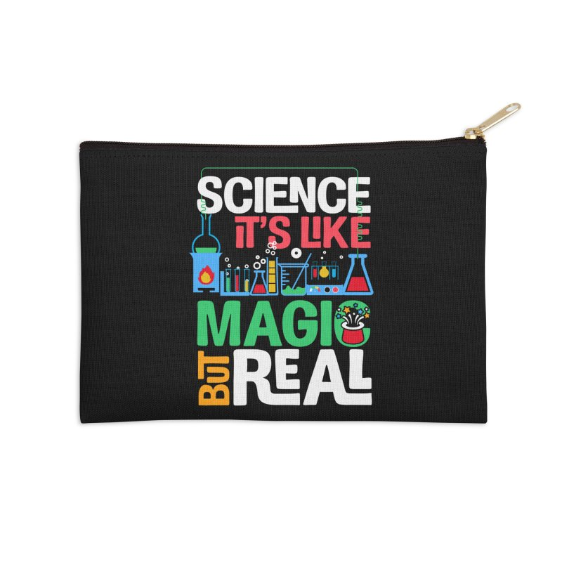 Science its like magic Accessories Zip Pouch by Saksham Artist Shop