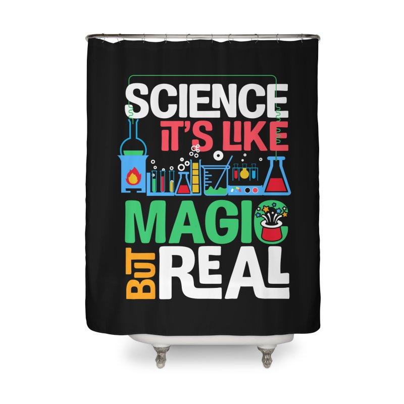 Science its like magic Home Shower Curtain by Saksham Artist Shop