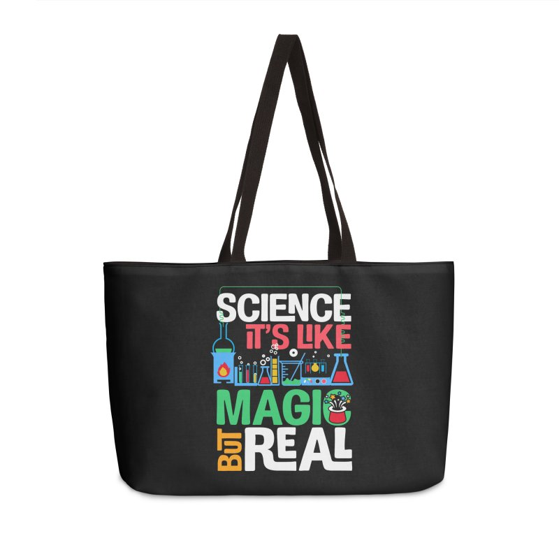 Science its like magic Accessories Weekender Bag Bag by Saksham Artist Shop