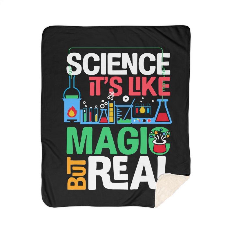 Science its like magic Home Sherpa Blanket Blanket by Saksham Artist Shop