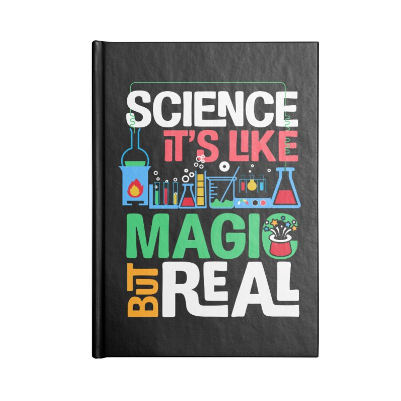 Science its like magic Accessories Lined Journal Notebook by Saksham Artist Shop