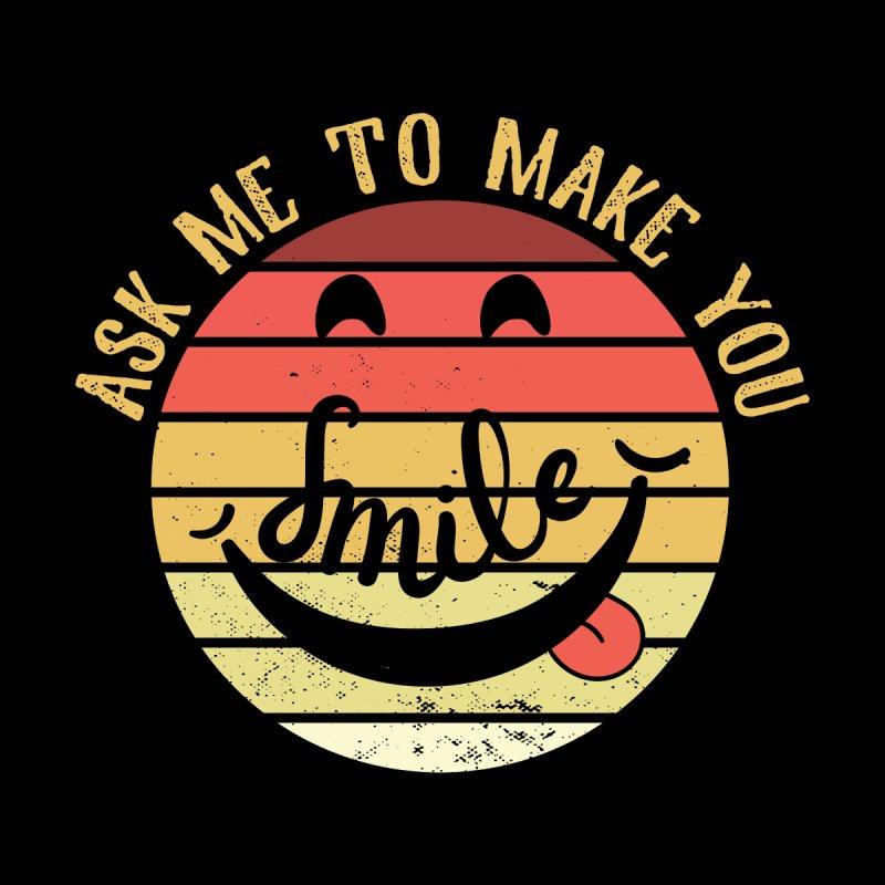 ASK ME TO MAKE YOU SMILE Men's Pullover Hoody by Saksham Artist Shop
