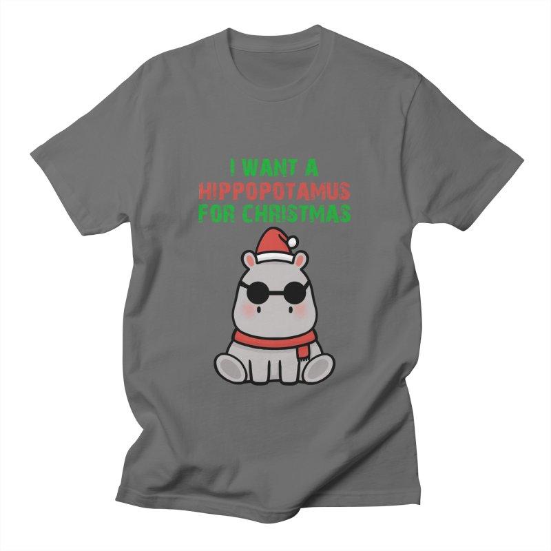 I WANT A HIPPOPOTAMUS FOR CHRISTMAS Edit Men's T-Shirt by Saksham Artist Shop