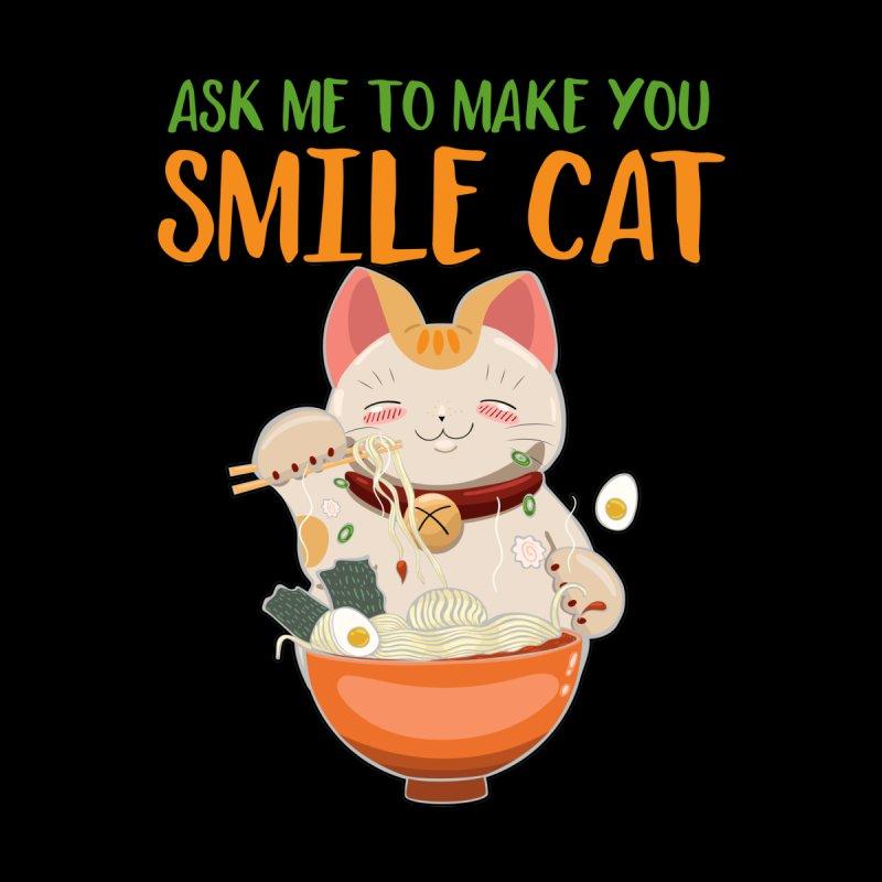 ASK ME TO MAKE YOU SMILE CAT Men's Pullover Hoody by Saksham Artist Shop
