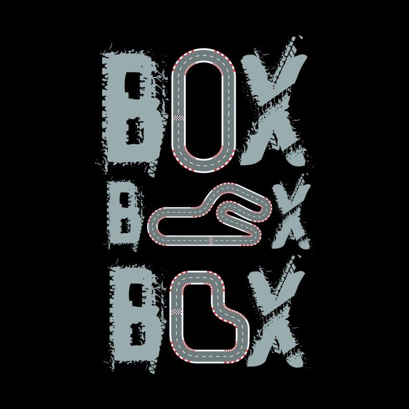 BOX BOX BOX F1 TRACK Men's Pullover Hoody by Saksham Artist Shop