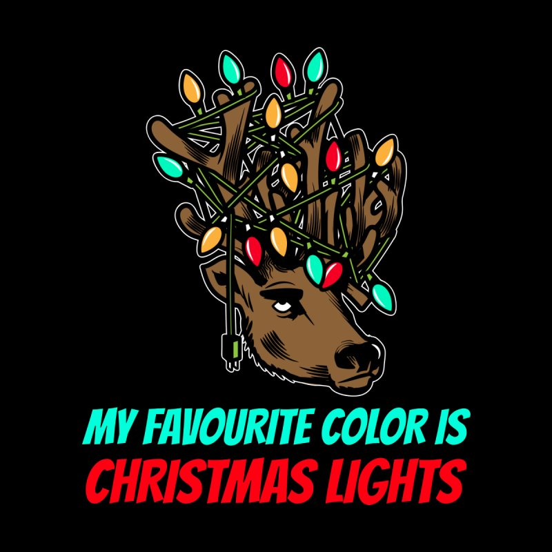 MY FAVORITE COLOR IS CHRISTMAS LIGHTS Men's T-Shirt by Saksham Artist Shop