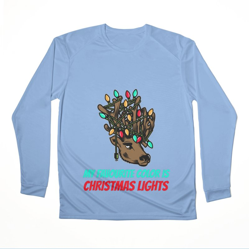 MY FAVORITE COLOR IS CHRISTMAS LIGHTS Women's Longsleeve T-Shirt by Saksham Artist Shop