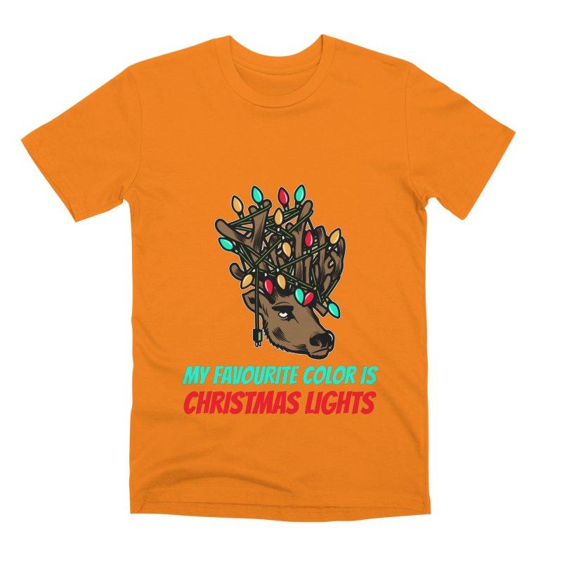 MY FAVORITE COLOR IS CHRISTMAS LIGHTS Men's T-Shirt by Saksham Artist Shop