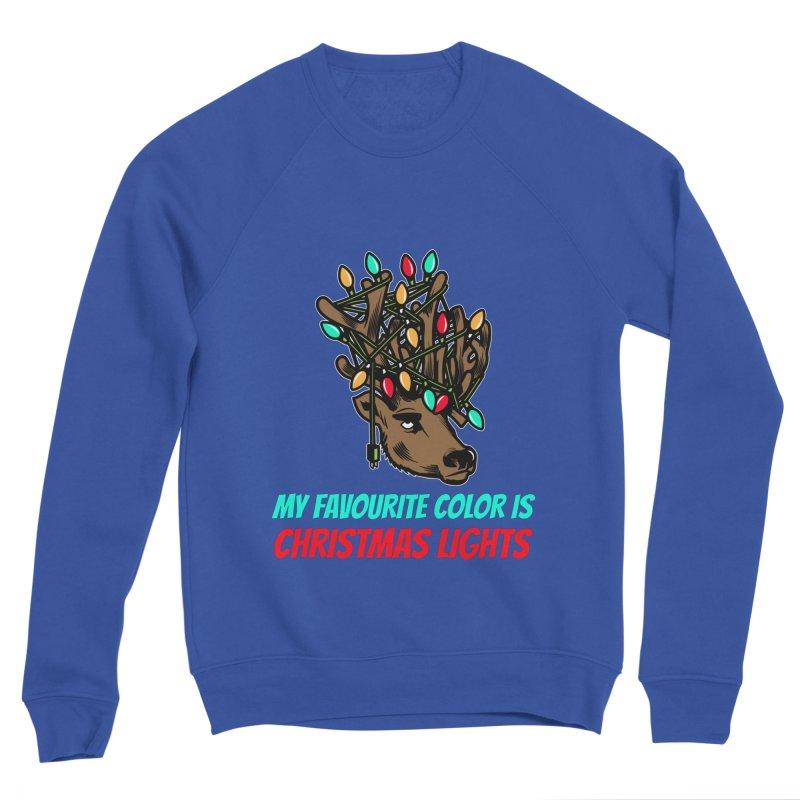 MY FAVORITE COLOR IS CHRISTMAS LIGHTS Men's Sweatshirt by Saksham Artist Shop