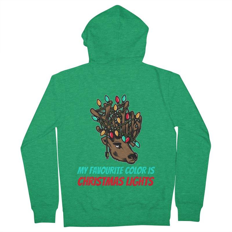 MY FAVORITE COLOR IS CHRISTMAS LIGHTS Men's Zip-Up Hoody by Saksham Artist Shop