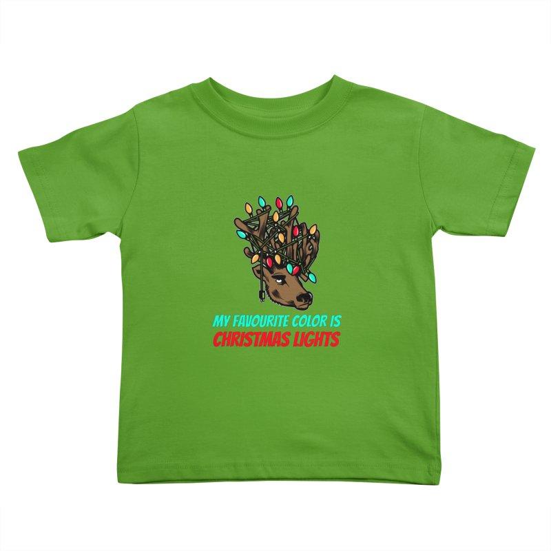 MY FAVORITE COLOR IS CHRISTMAS LIGHTS Kids Toddler T-Shirt by Saksham Artist Shop