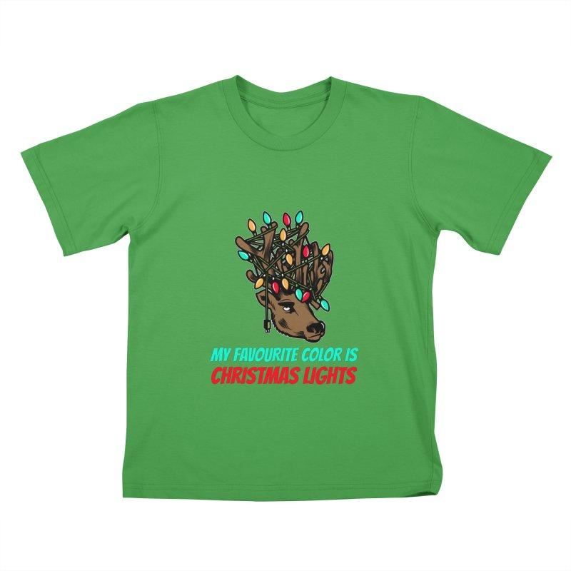 MY FAVORITE COLOR IS CHRISTMAS LIGHTS Kids T-Shirt by Saksham Artist Shop