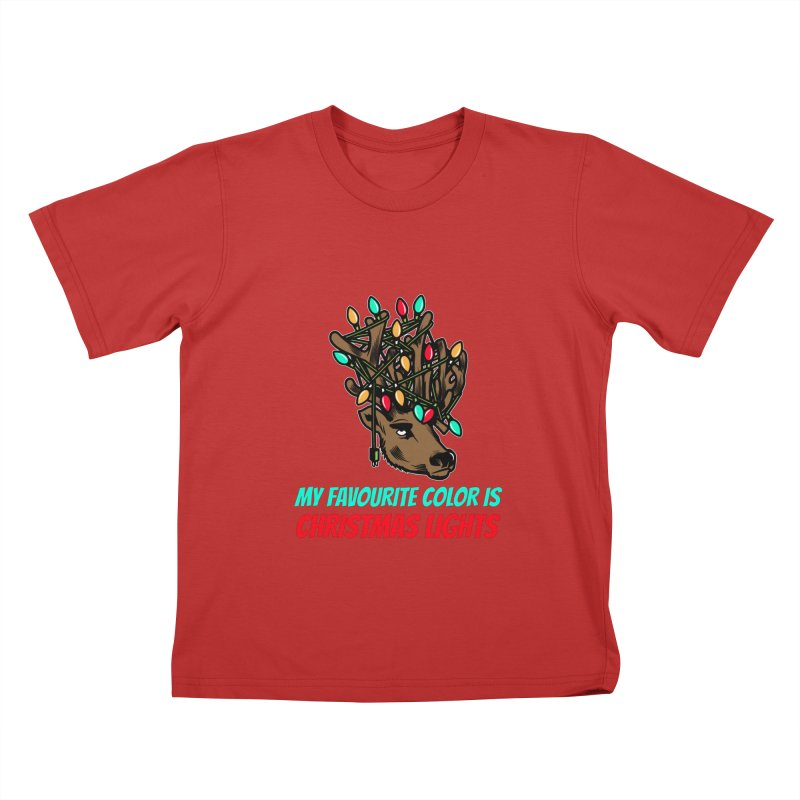 MY FAVORITE COLOR IS CHRISTMAS LIGHTS Kids T-Shirt by Saksham Artist Shop