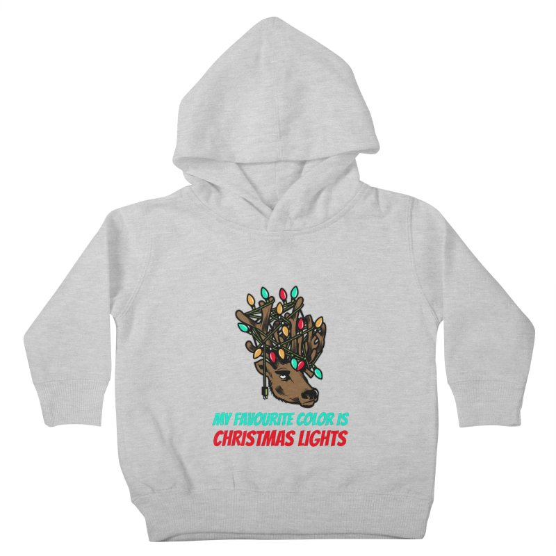 MY FAVORITE COLOR IS CHRISTMAS LIGHTS Kids Toddler Pullover Hoody by Saksham Artist Shop