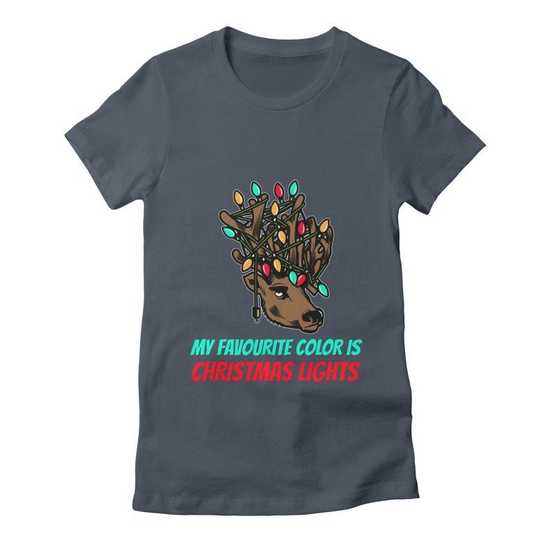 MY FAVORITE COLOR IS CHRISTMAS LIGHTS Women's T-Shirt by Saksham Artist Shop